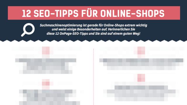 12 wertvolle SEO Tipps für deinen Online Shop in einer Infografik