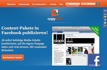 Copyclick ermöglicht Zeitungskauf auf Facebook