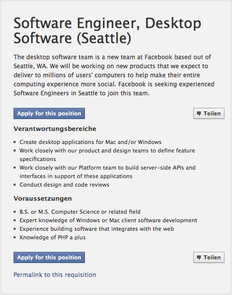 Facebook könnte an eigenem Browser arbeiten
