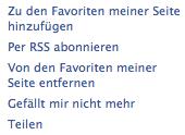 Facebook weist auf RSS Feeds für Fanpages hin