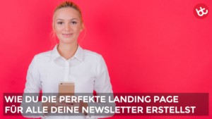 newsletter landing page