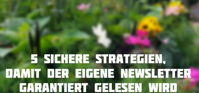 5 sichere Strategien, damit der eigene Newsletter garantiert gelesen wird