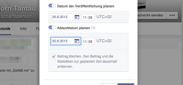 Praktisch: Wie du ein Ablaufdatum für Videos auf deiner Facebook Page einstellst