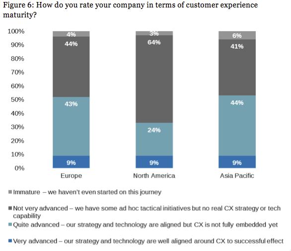 Fähigkeiten von Unternehmen in einzelnen Märkten bezüglich Customer Experience