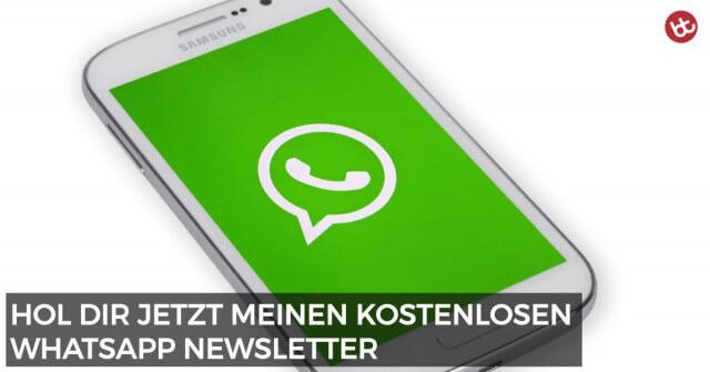 Hol dir meinen kostenlosen WhatsApp Newsletter