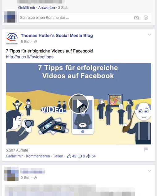 Videos fügen sich nahtlos in deinen News Feed auf Facebook ein