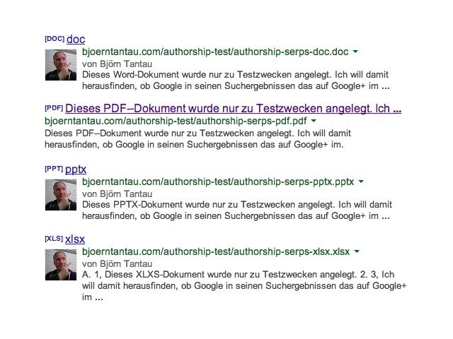 Test: Bei welchen Dateitypen funktioniert das Authorship Markup?