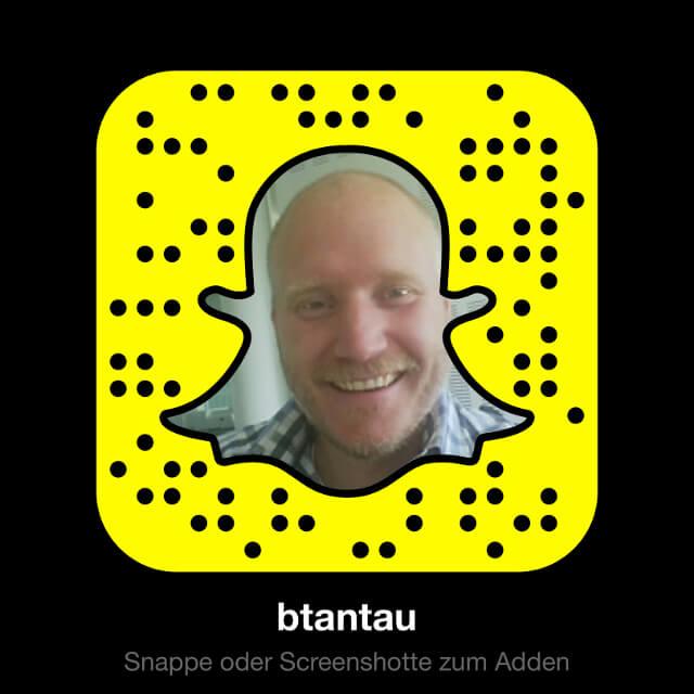 """Folge """"btantau"""" jetzt auf Snapchat!"""