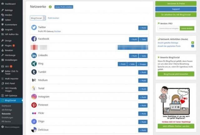 Blog2Social Testbericht: Intelligentes Crossposting in Social Media, schnell und einfach