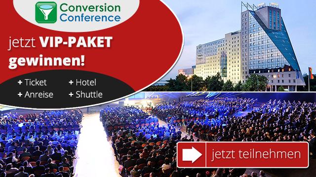 Nur bis 10. September: VIP-Package zur Conversion Conference gewinnen