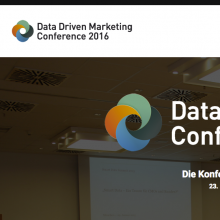 Data Driven Marketing Conference München 2016