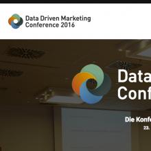 Data Driven Marketing Conference München 2016