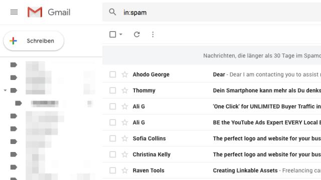 E-Mail Spam erkennst du oft an ganz offensichtlichen Faktoren