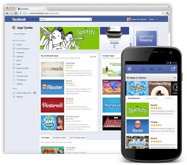 Facebook App Center kommt
