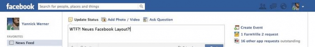 Facebook Design Update gesichtet