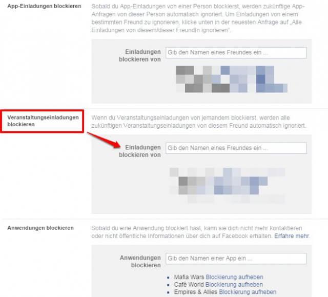 Wie du nervige Einladungen zu Facebook Events blockierst