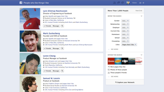 Was bringt die Facebook Graph Search?