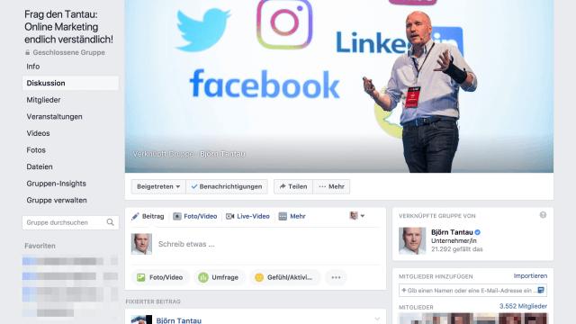 Mit einer Facebook Gruppe kannst du eine aktive Commnunity aufbauen
