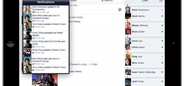 Facebook iPad App veröffentlicht