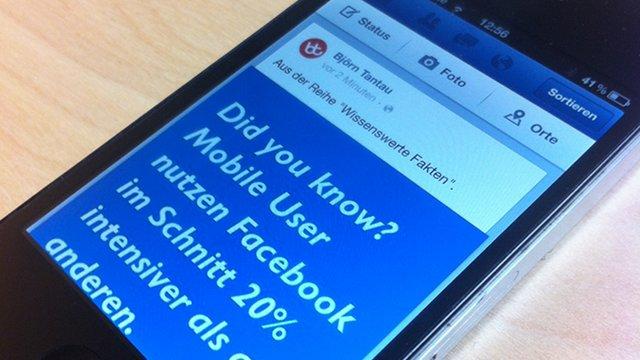 Facebook mobil hat oberste Priorität