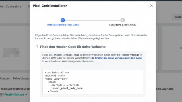 Der Facebook Pixel lässt sich sehr einfach installieren