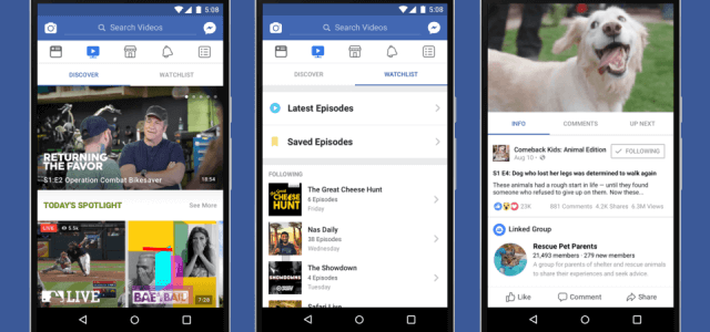 Facebook Watch: Angriff auf YouTube, Netflix und Co.?