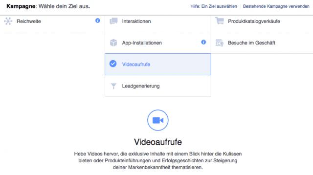 Facebook Werbeanzeige mit einem Video erstellen