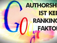 "Trotz ""Good Guy Algorithm"": Google Authorship kein Rankingfaktor"