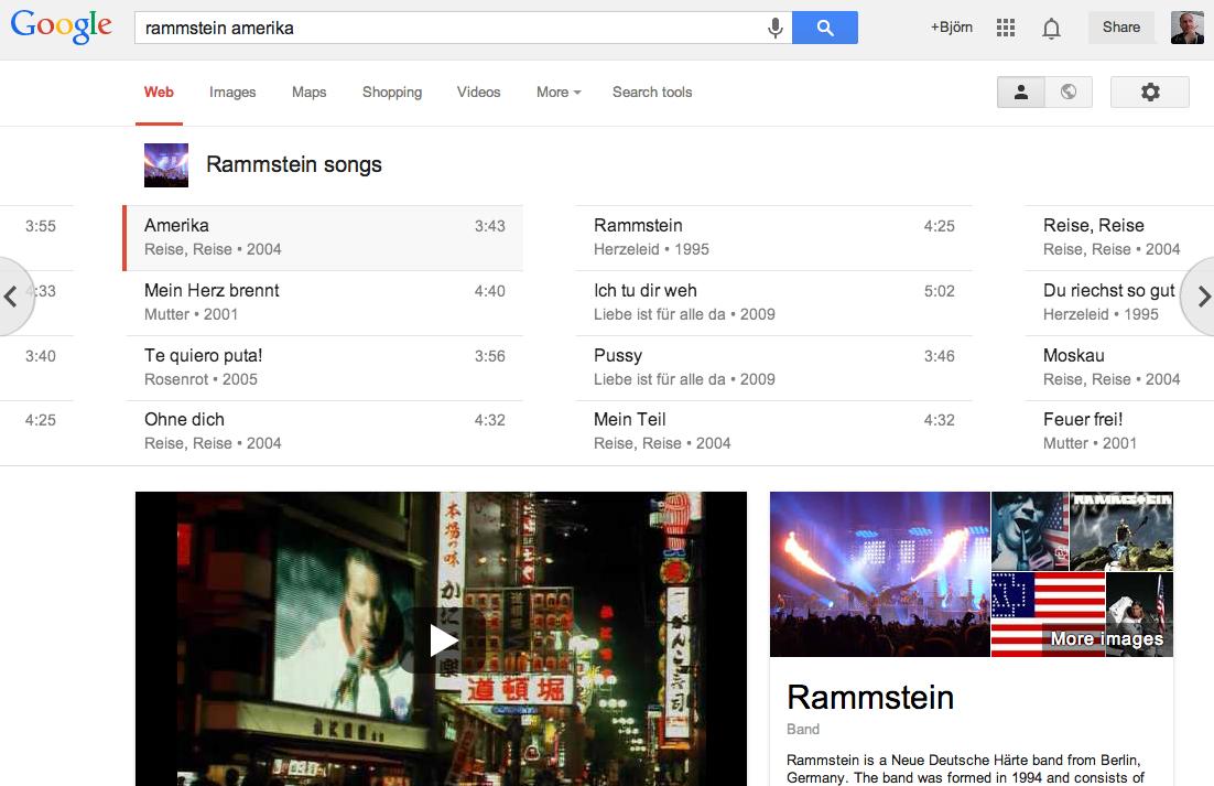 Google erweitert Musiksuche