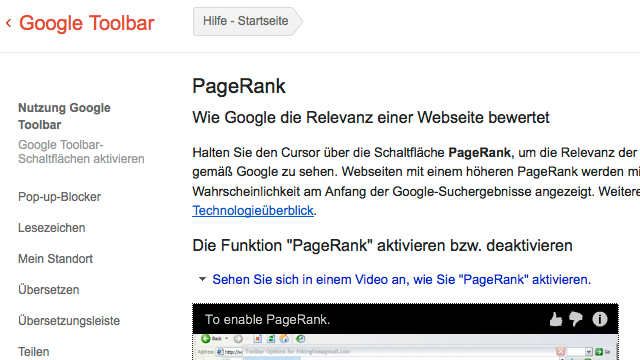 PageRank Update Februar 2013