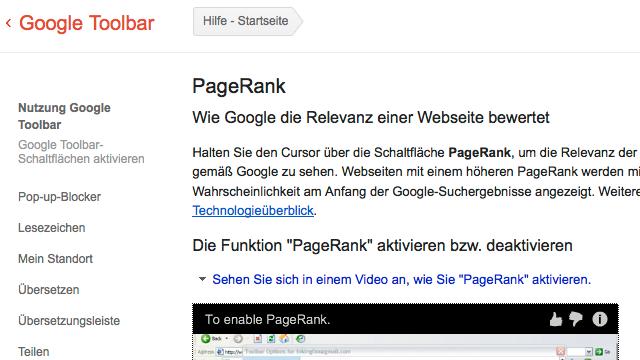 PageRank Update Februar 2013