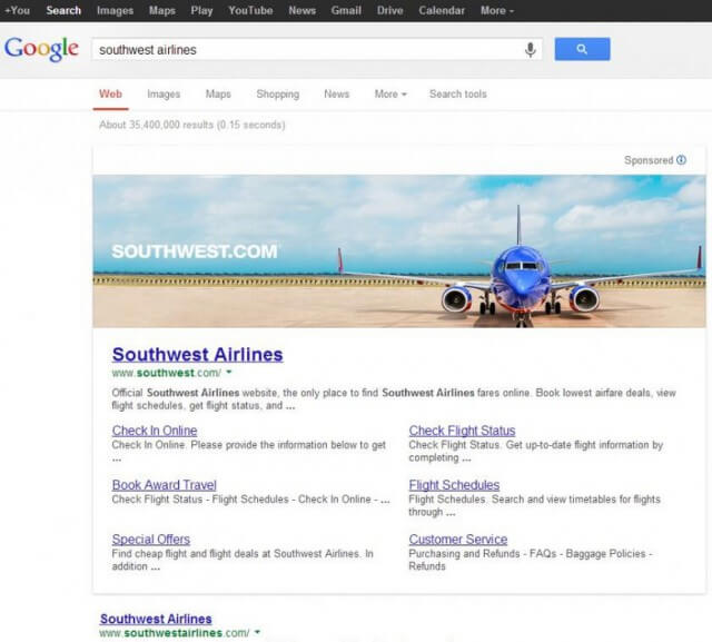 Google testet übergroße Banner in Suchergebnissen