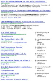 """Google Venice Update: Regionale Ergebnisse entern """"normale"""" Suche"""