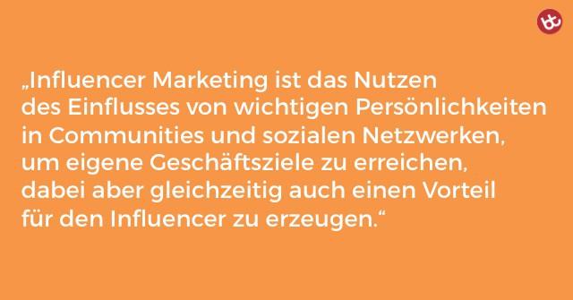 Definition von Influencer Marketing