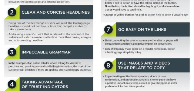 Infografik: Die perfekte Landing Page