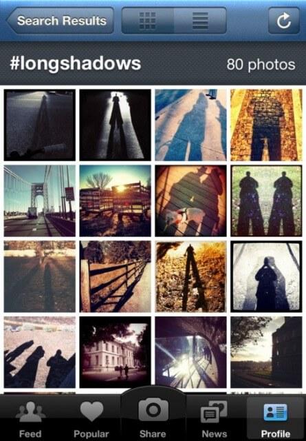 Beispiel für einen Hashtag auf Instagram