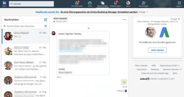 Das Postfach auf LinkedIn wurde massiv verbessert