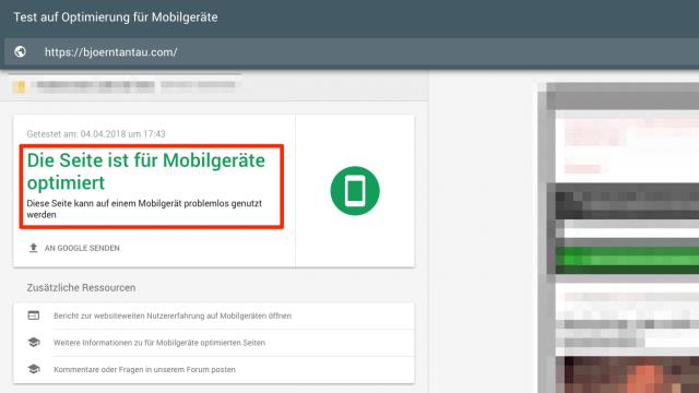 Du kannst selbst testen, ob deine Website mobilfreundlich ist