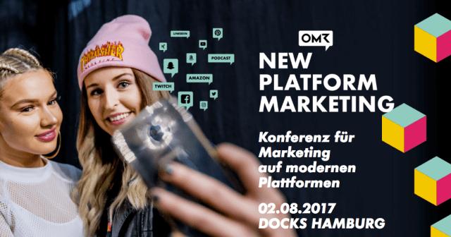 Ticketverlosung zur New Platform Marketing am 2.8.2017