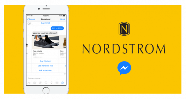 Online Shopping via Chatbot bei Nordstrom