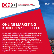 Online Marketing Konferenz Bielefeld 2018