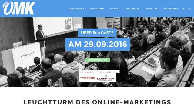 Save the Date: 5. Online Marketing Konferenz OMK Lüneburg am 29.9.2016