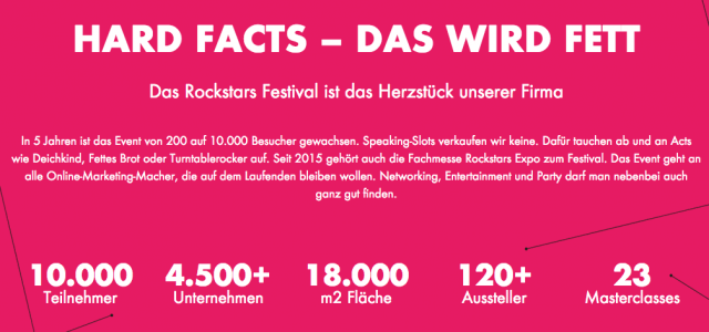 Online Marketing Rockstars Festival 2016: Gewinne Tickets für die Expo!
