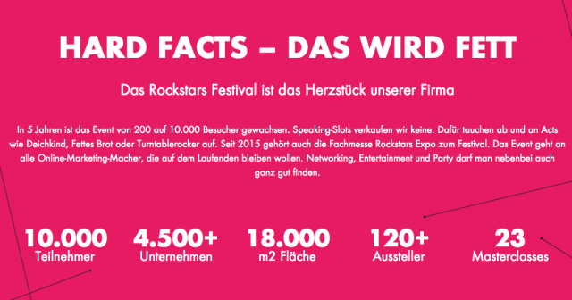 Was dich bei den Online Marketing Rockstars erwartet