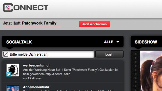 """Sat1 setzt mit """"Connect"""" auf Social TV"""
