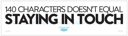 Aggressive Skype-Werbung gegen Twitter, Facebook und Co.