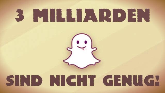 Facebook will Snapchat, aber 3 Milliarden sind nicht genug