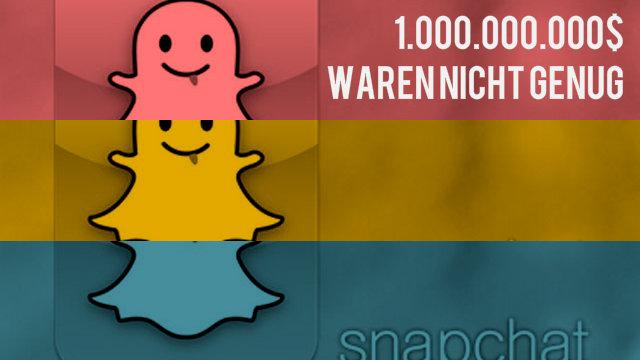 Snapchat lehnte 1 Milliarde US-Dollar von Facebook ab