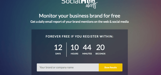 SocialHub Alerts: Kostenloses Web Monitoring für alle?