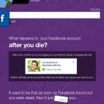 Infografik: Was passiert mit Profilen verstorbener Facebook-Mitglieder?